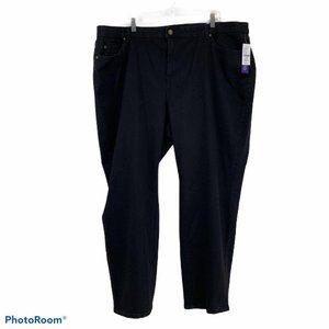 Catherine's womens Str8 leg jeans Sz 28W Black NWT